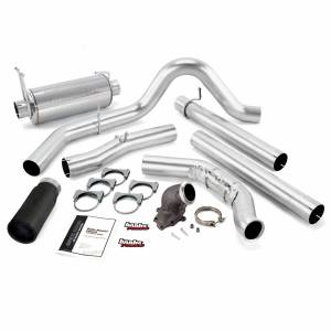 Banks Power Monster Exhaust System W/Power Elbow Single Exit Black Round Tip 99 Ford 7.3L W/Catalytic Converter 48658-B