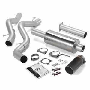 Exhaust - Exhaust Systems - Banks Power - Banks Power Monster Exhaust System Single Exit Black Round Tip 02-05 Chevy 6.6L EC/CCLB 48634-B