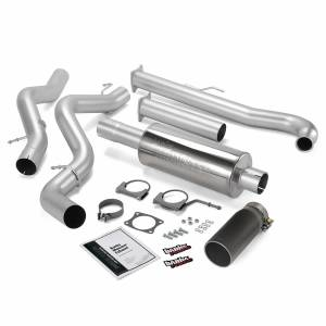 Banks Power Monster Exhaust System Single Exit Black Tip 01-04 Chevy 6.6L SCLB 48628-B