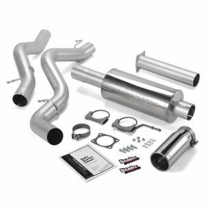 Exhaust - Exhaust Systems - Banks Power - Banks Power Monster Exhaust System Single Exit Chrome Round Tip 02-05 Chevy 6.6L EC/CCLB 48634