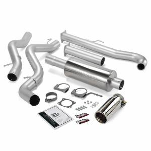 Exhaust - Exhaust Systems - Banks Power - Banks Power Monster Exhaust System Single Exit Chrome Tip 01-04 Chevy 6.6L EC/CCLB 48630
