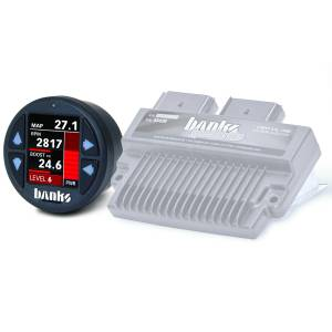 Engine Parts - Electronic Controls - Banks Power - Banks Power Six-Gun Diesel Tuner with Banks iDash 1.8 Super Gauge for use with 2008-2010 Ford 6.4L 61422