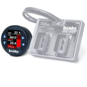Engine Parts - Electronic Controls - Banks Power - Banks Power Six-Gun Diesel Tuner with Banks iDash 1.8 Super Gauge for use with 2003-2007 Ford 6.0 Truck/2003-2005 Excursion 61424
