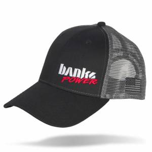 Shop By Part - Gear & Apparel - Banks Power - Banks Power Power Hat Twill/Mesh Black/Gray/WhiteRed Curved Bill Snap Backstrap 96128