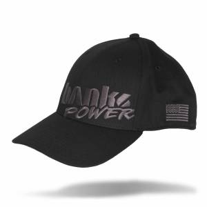 Shop By Part - Gear & Apparel - Banks Power - Banks Power Power Hat Premium Fitted Black/Gray Curved Bill Flexible Fit 96127