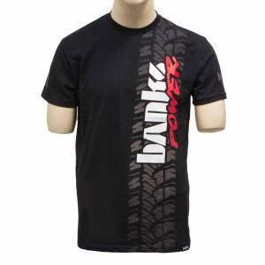 Shop By Part - Gear & Apparel - Banks Power - Banks Power Tire Tread T-Shirt 2X-Large Black 96172