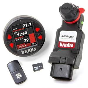 2017+ GM 6.6L L5P Duramax - Programmers & Tuners - Banks Power - Banks Power Derringer Tuner w/DataMonster with ActiveSafety includes Banks iDash 1.8 DataMonster for 2020 Chevy/GMC 2500/3500 6.6L Duramax L5P 67103